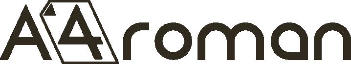 A4roman | A4roman. Logo Negro